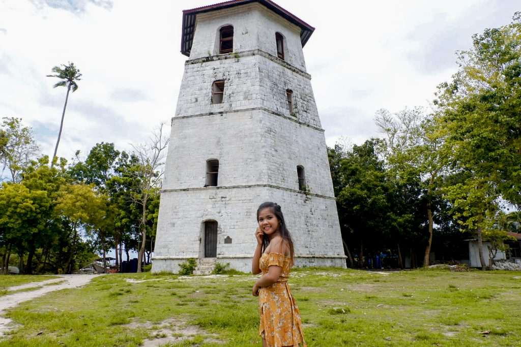 "ALT=""panglao bohol bell tower church"""