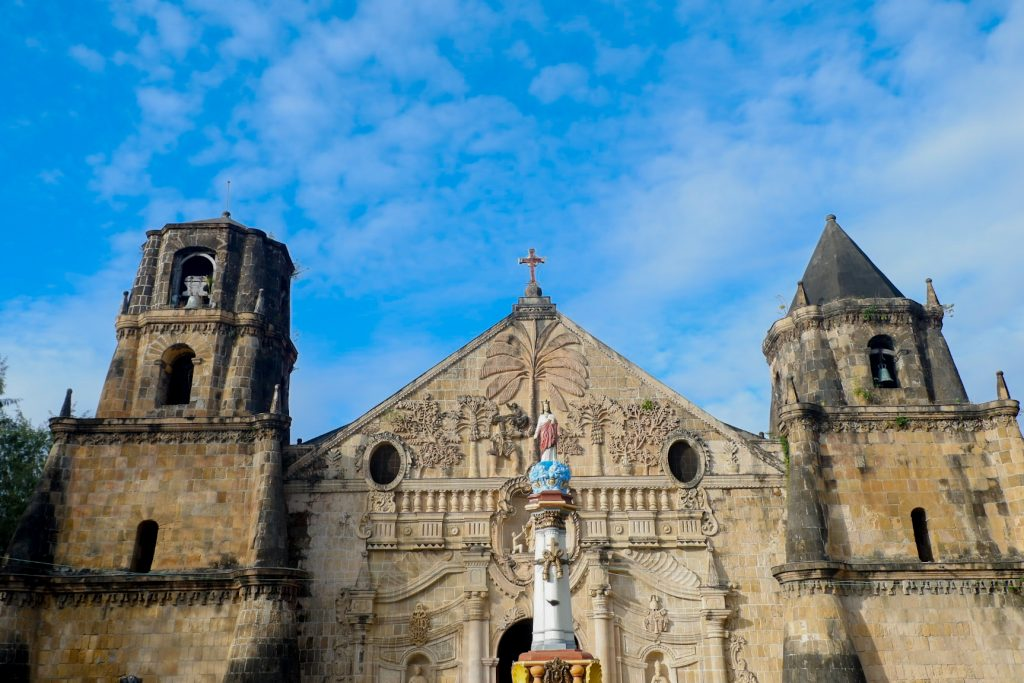 "ALT=""churches to visit in iloilo and miagao facade view"""