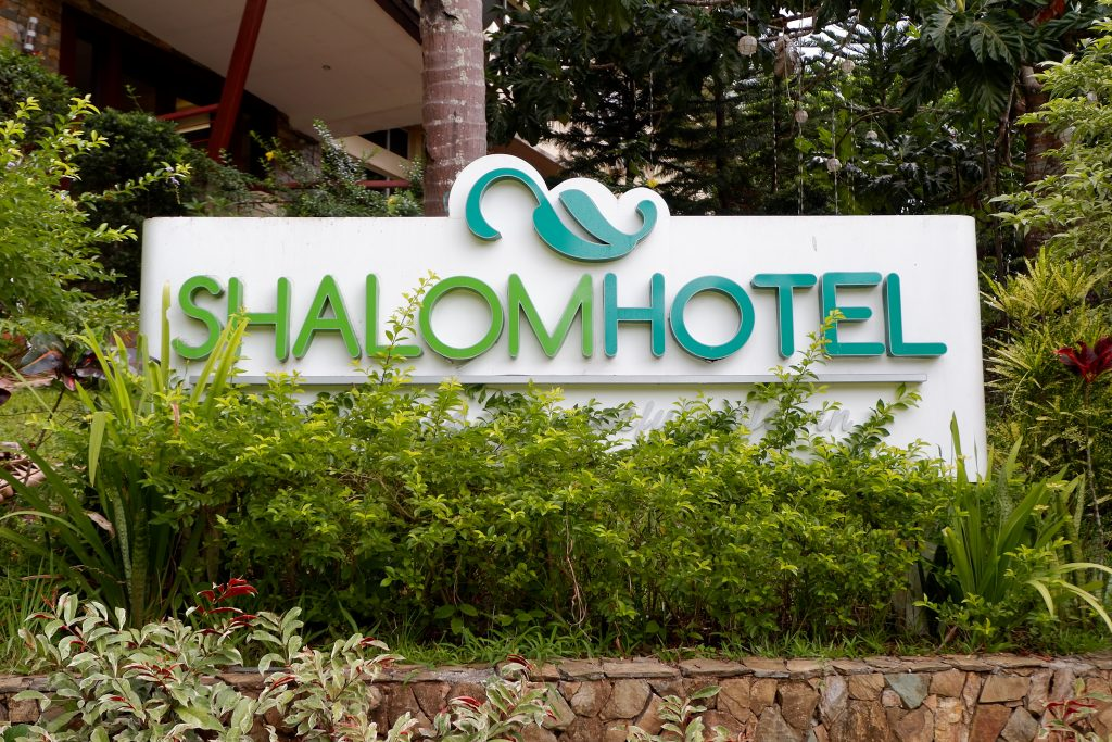 "ALT=""shalom hotel entrance part of the hotel"""