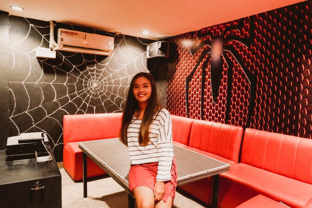 "ALT=""spiderman themed ktv room located in malate manila"""