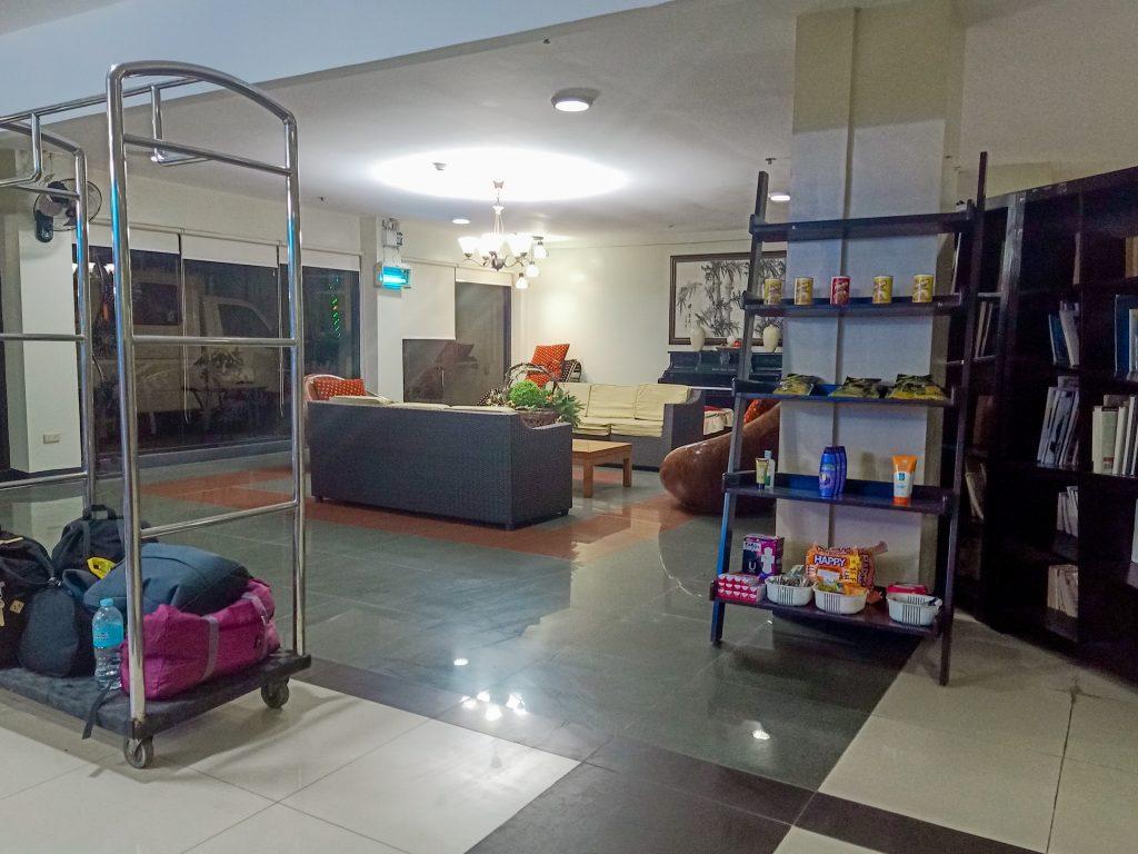 "ALT=""the lobby area of the palmbeach resort in mactan cebu"""