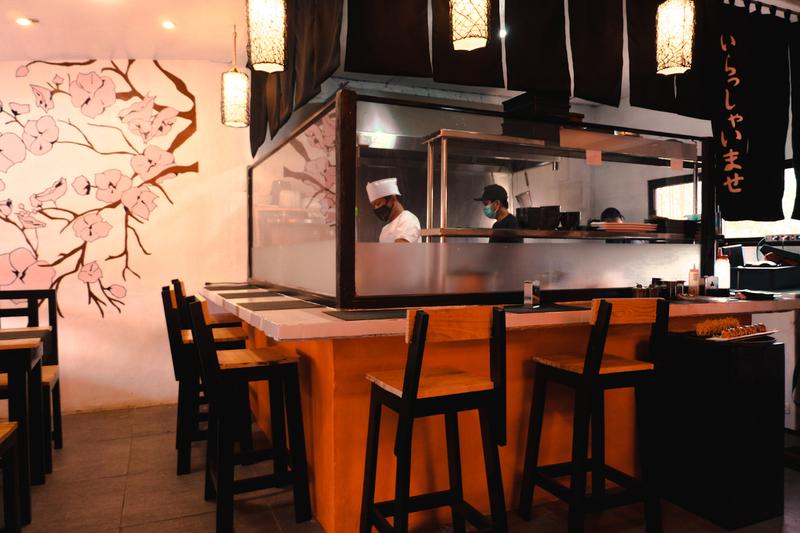 inside maki sushi rolls restaurant