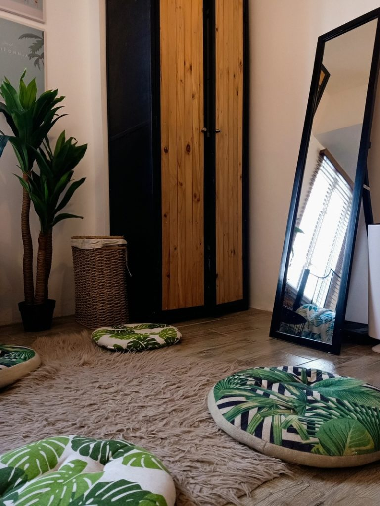 a boho chic airbnb staycation