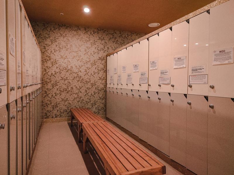 locker room and dressing area